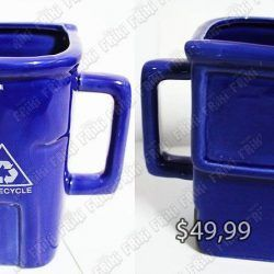 Jarro Varios Basurero Azul Ecuador Comprar Venden, Bonita Apariencia de basurero, practica, Hermoso material de cerámica Color azul Estado nuevo