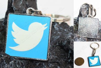 Llavero Varios Logo Twitter Ecuador Comprar Venden, Bonita Apariencia ideal para los destacar, practica, Hermoso material de bronce niquelado Color como en la imagen Estado nuevo